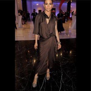 Vintage LANVIN Silk dress - SIZE 10